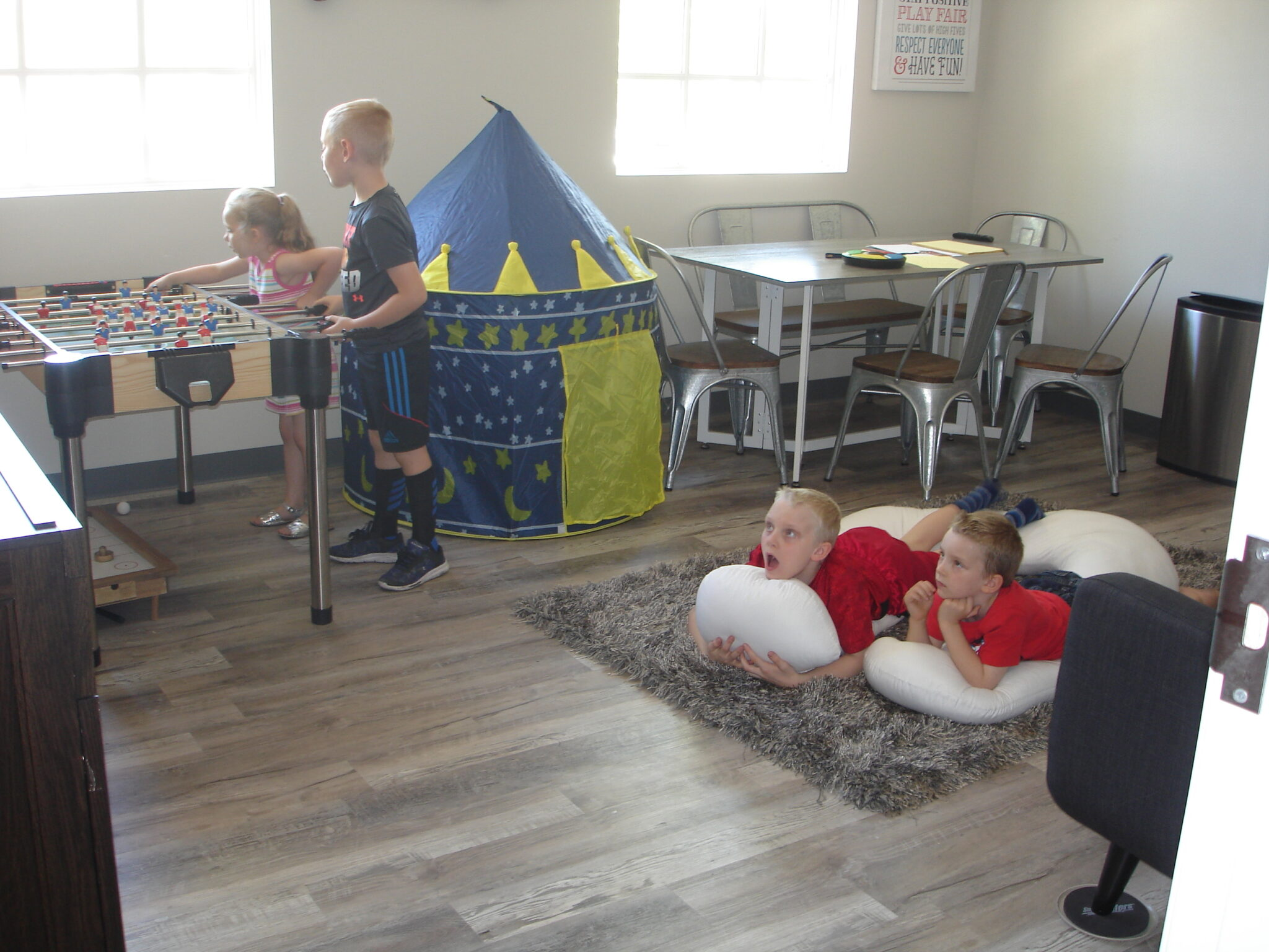 Children playing in Social Lounge