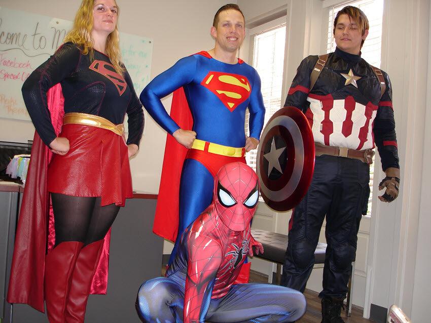 Super Visit By Superheroes